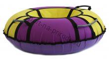 Тюбинг Hubster Хайп фиолетовый-желтый 80 см