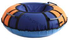 Тюбинг Hubster Хайп синий-оранжевый 90 см