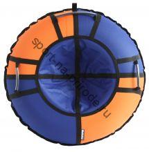Тюбинг Hubster Хайп синий-оранжевый 110 см