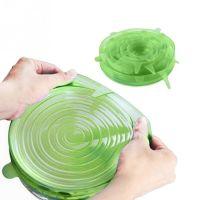 Силиконовые Крышки Silicone Sealing Lids, 6 шт, Цвет Зеленый (3)