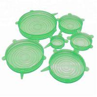 Силиконовые Крышки Silicone Sealing Lids, 6 шт, Цвет Зеленый (2)