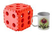 Кубик огромный мягкий розовый