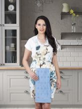 Фартук кухонный с салфеткой 30*50(голубой) Арт.1128-13