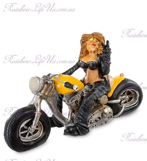 """Фигурка девушка байкер на мотоцикле """"W.Stratford"""""""