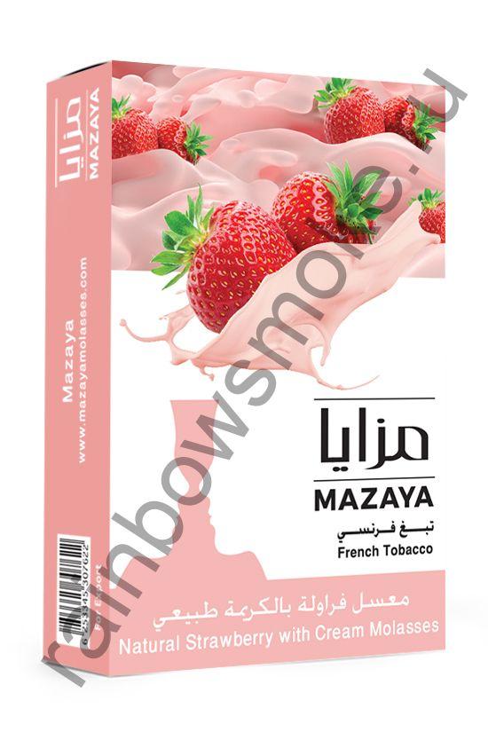 Mazaya 50 гр - Strawberry with Cream (Клубника со Сливками)