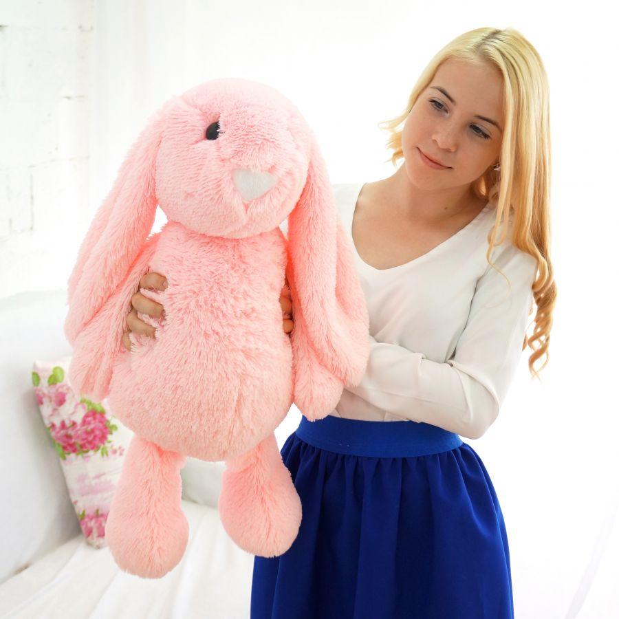 Зайчик Лесли (Д - 65см) Розовый