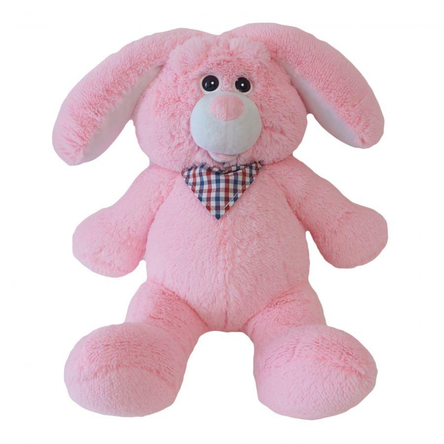 Зайчик Бакс (ОР - 70см)(Д - 55см) Розовый
