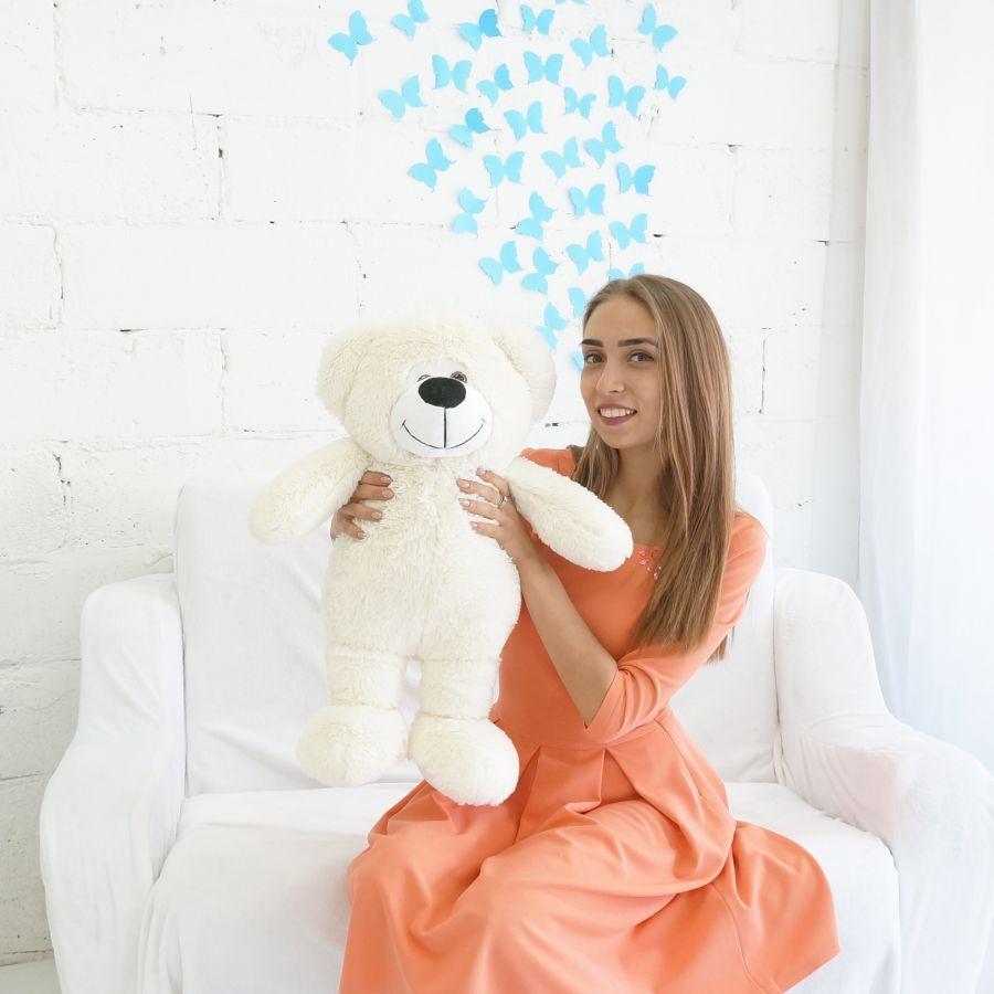"""Мишка Веня (ОР-75см)(Д-65см) Молочный """"Premium Quality"""""""