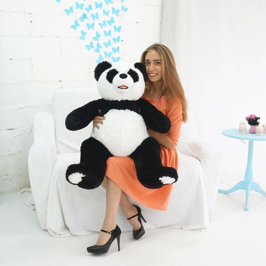 Мишка Патрик-панда (ОР-110см)(Д-85см) Черно-белый