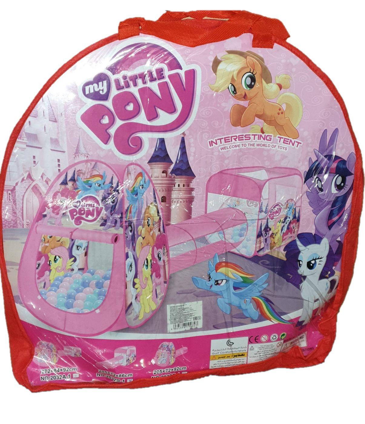 Детская палатка домик с туннелем двойная 2 в 1 My Little Pony