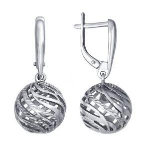 Серьги из серебра с алмазной гранью 94021500 SOKOLOV