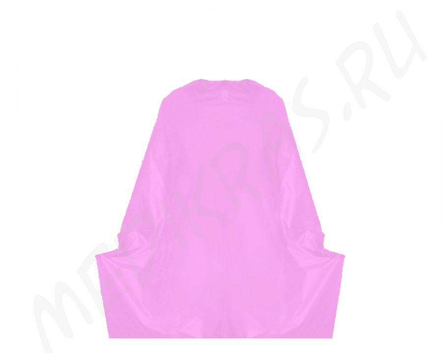 Пеньюар одноразовый полиэтиленовый розовый 140х100 см