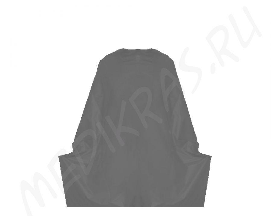 Пеньюар одноразовый полиэтиленовый черный 140х100 см