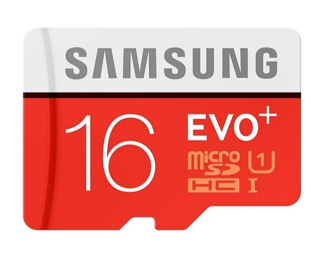 Карта памяти Samsung EVO Plus 16GB + SD adapter microSDHC Class 10 UHS-I