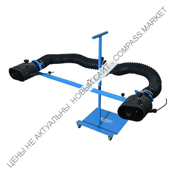 Комплект неопреновых насадок 200x100 мм на стойке (под шланг D75 мм)