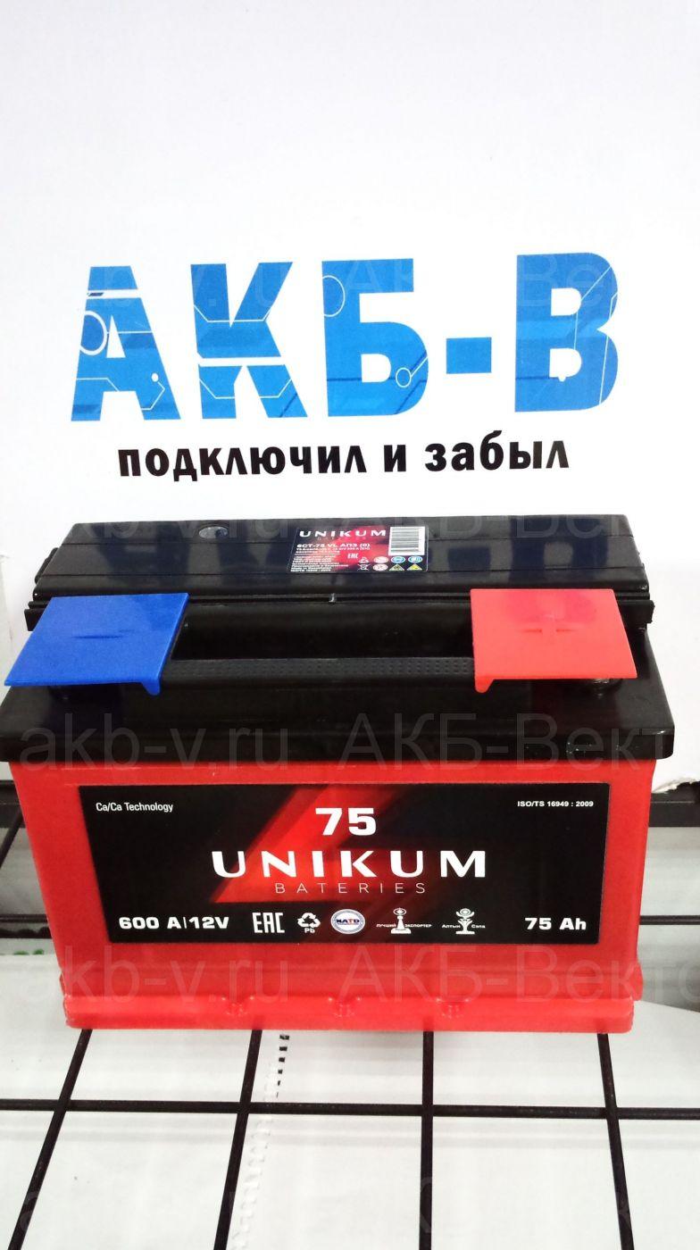 Unikum 75Ач 600А(EN)