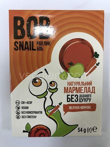 Мармелад яблоко-морковь без сахара , Bob Snail 54 грамма