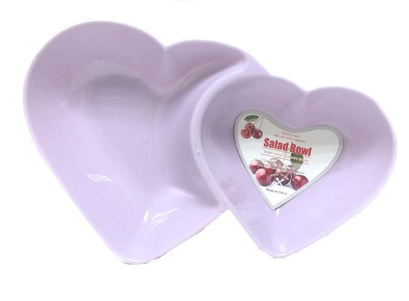Менажница в форме сердца на 2 блюда Salad Bowl