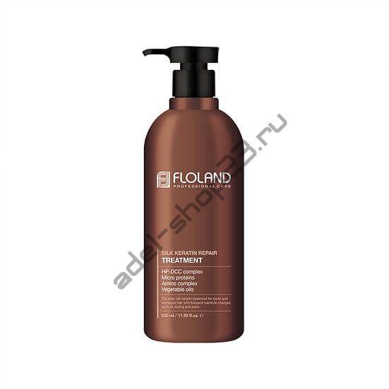 Floland Premium Silk Keratin Treatment - Восстанавливающая маска-бальзам для волос с кератином