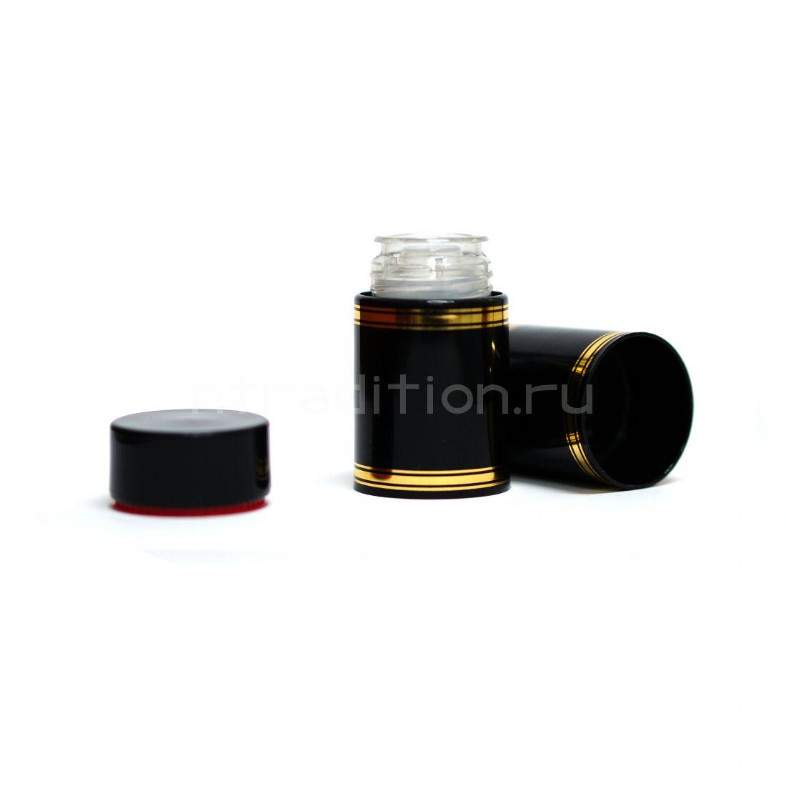Полимерный колпачок с дозатором чёрный (Гуала 58 мм) / 10 шт