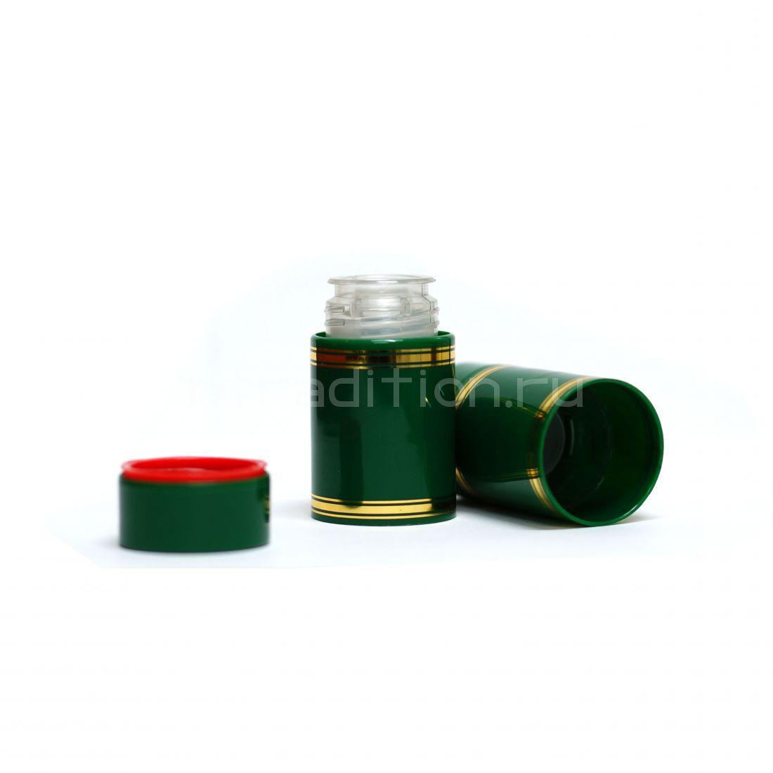 Полимерный колпачок с дозатором зелёный (Гуала 58 мм) / 10 шт