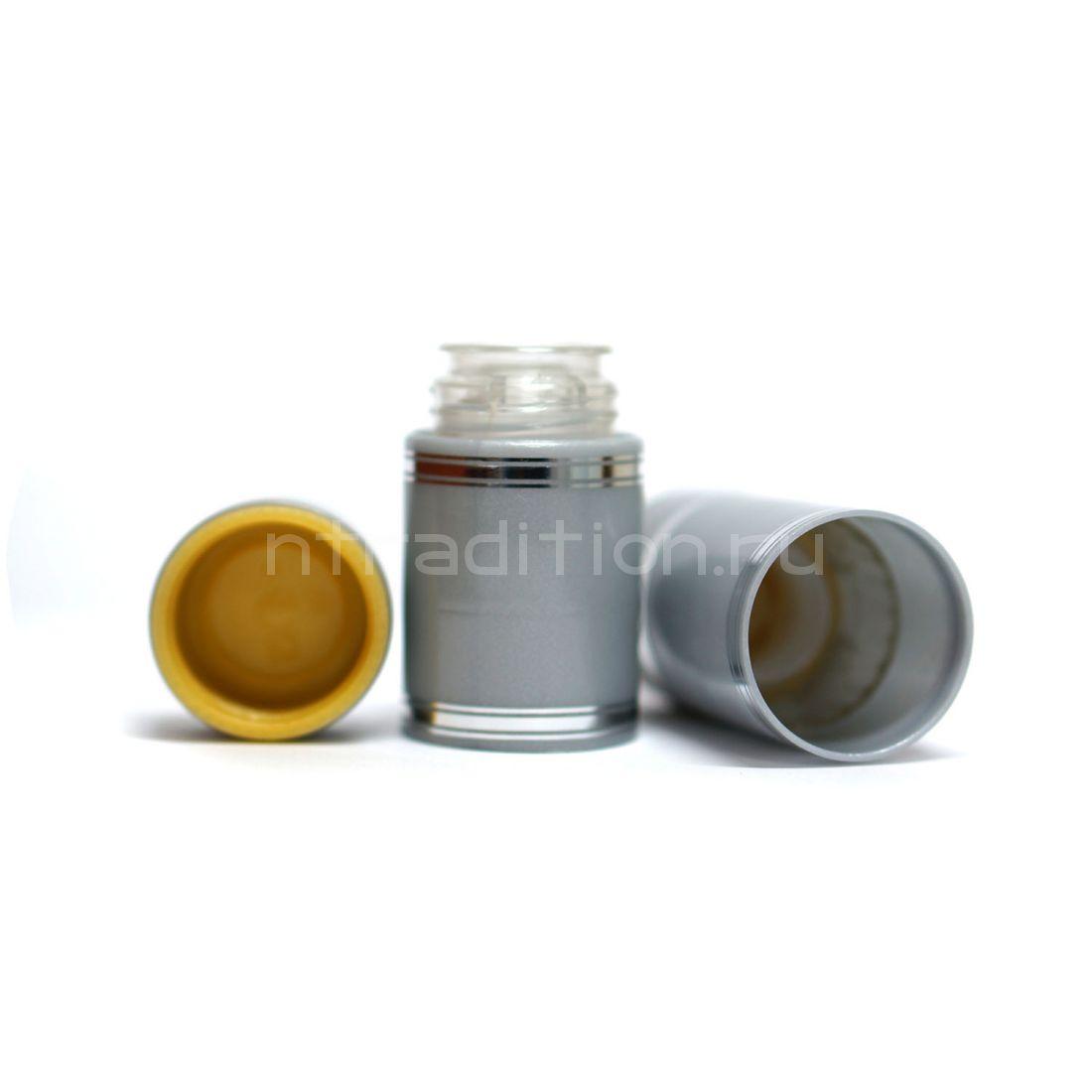 Полимерный колпачок с дозатором серебристый (Гуала 58 мм) / 10 шт