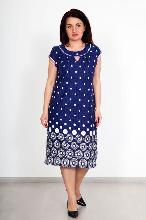 """Платье """"Жасмин"""" синее, кулирка"""