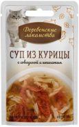 Деревенские лакомства пауч для кошек суп из курицы с говядиной и шпинатом 35г