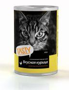Tasty  консервы.для кошек курица в соусе 415г