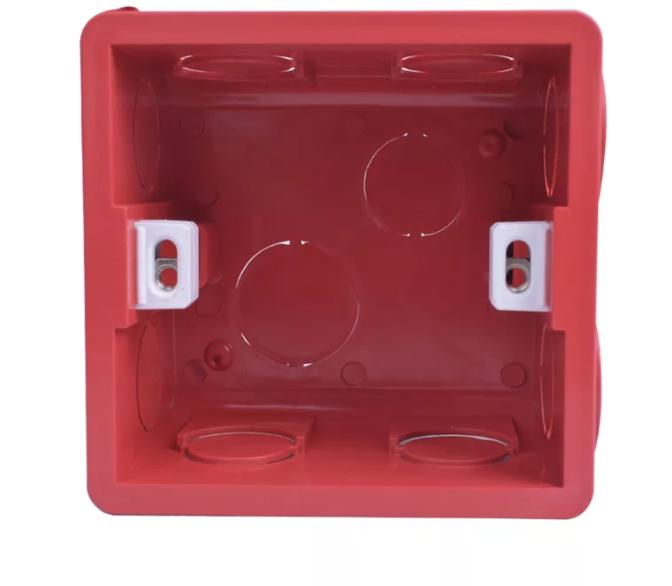 Подрозетник  Transparent Mounting Box Internal Cassette 86х83х50 ( Красный )