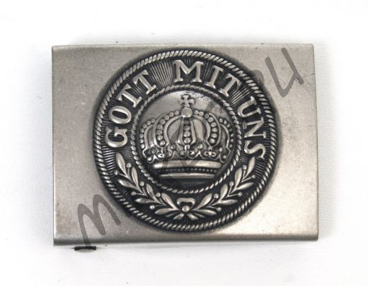 """Пряга стальная, прусская """"Gott mit uns"""", образца 1915 года, ПМВ (реплика)"""