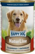 HappyDog Консерва для собак с телятиной и индейкой,400 гр