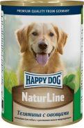 HappyDog Консерва для собак с телятиной и овощами, 400гр