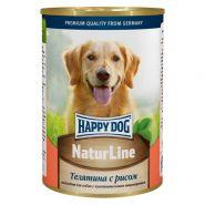 HappyDog Консерва для собак с телятиной и рисом, 400 гр