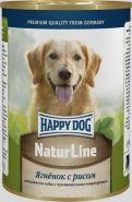 HappyDog Консерва для собак с ягненком и рисом, 400 гр