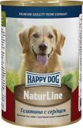 HappyDog Консерва для собак с телятиной и сердцем, 400 гр
