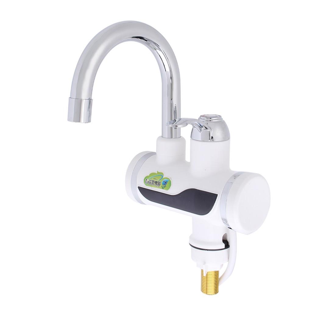 Проточный электрический водонагреватель INSTANT ELECTRIC HEATING WATER FAUCET с экраном.