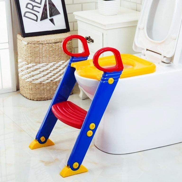 Детское сиденье на унитаз со ступенькой Froggie