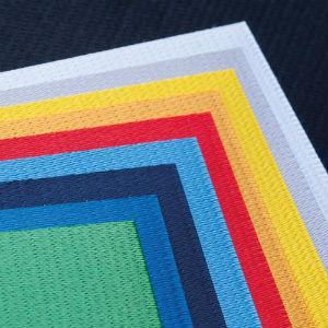 Step - структурная ткань, имитирующая вышивку. Красная