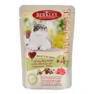Корм для кошек Berkley №4 фрикасе индейка с ягненком и ягодами в желе консервированный 100г