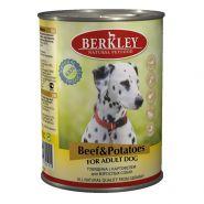 Berkley Adult Dog Beef & Potatoes Паштет с говядиной и овощами, 400 гр