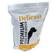 Delicana Сухой корм для собак средних пород, с курицей. 1,5кг