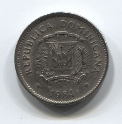10 сентаво 1984 года Доминиканская Республика