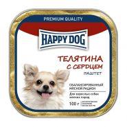 Happy Dog Паштет для собак мелких пород с ягнёнком, печенью, сердцем и рисом, 100 г