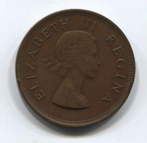 1 пенни 1954 года Южная Африка редкий год