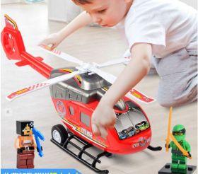 Игрушка вертолет пожарный большой пластиковый для мальчика