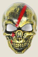 Маска карнавальная череп смерть на Хэллоуин золото