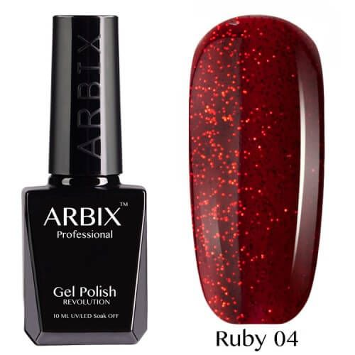 Arbix 004 Ruby Соус Чили Гель-Лак , 10 мл