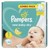 Подгузник PAMPERS New Baby-Dry Newborn (2- 5 кг), 1 шт/PAMPERS