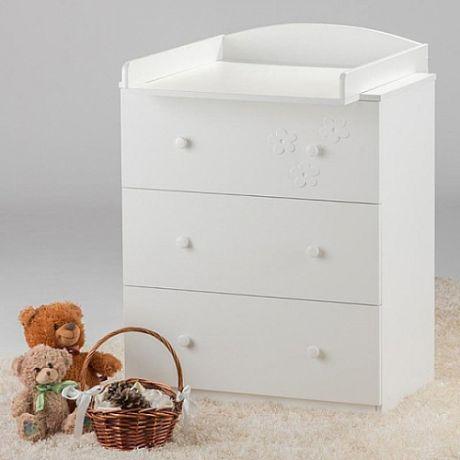 Комод детский Птенчики съемный пеленальный стол Белый